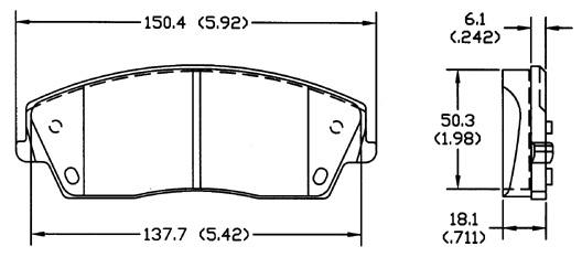 Brake pads D1056